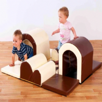 Toddler Tunnels & Bumps Soft Play Set Natural